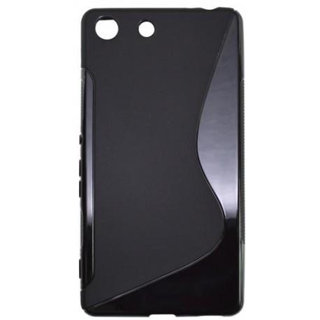 Gumené puzdro S-line Sony Xperia M5, čierne