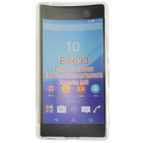 Gumené puzdro S-line Sony Xperia M5, transparentné
