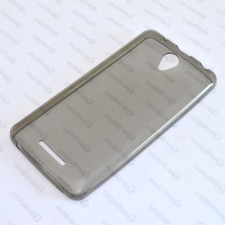 Priehľadné silikónové puzdro Lenovo A5000, šedé