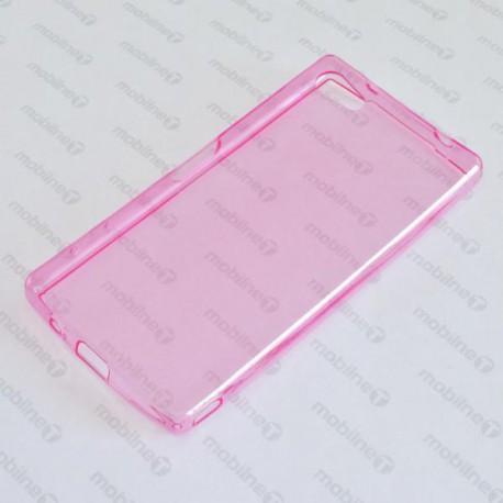 Priehľadné silikónové puzdro Sony Xperia Z5 Compact, ružové