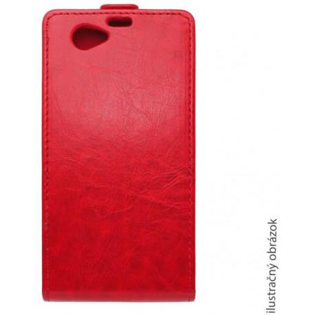 Knižkové sklopné puzdro Lenovo Vibe Shot, červené