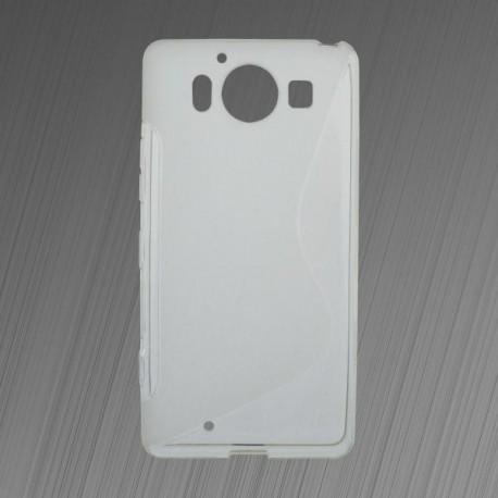 Gumené puzdro S-line Microsoft Lumia 950, transparentné