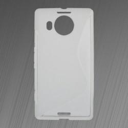 Gumené puzdro S-line Microsoft Lumia 950 XL, transparentné