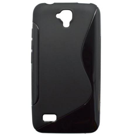 Gumené puzdro S-line Huawei Y5, čierne