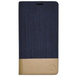 Bočné knižkové puzdro Lenovo A7000, modré (koženka / látka)