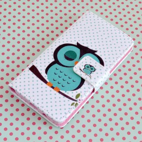 Vzorované knižkové puzdro Sony Xperia Z5, vzor sovička