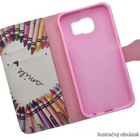 Vzorované knižkové puzdro Samsung Galaxy S5 mini, voskovky