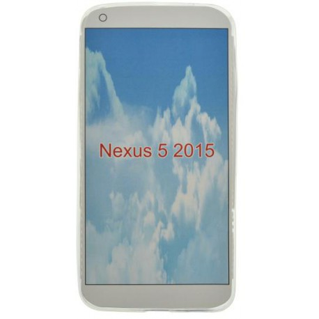 Gumené puzdro LG Nexus 5X, priehľadné