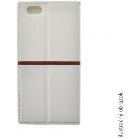 Knižkové puzdro Luxury Samsung Galaxy S6, biele