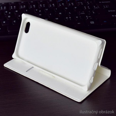 Knižkové puzdro Luxury Samsung Galaxy A3, biele