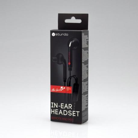 Sturdo slúchadlá In-Ear Pro Sport, čierne