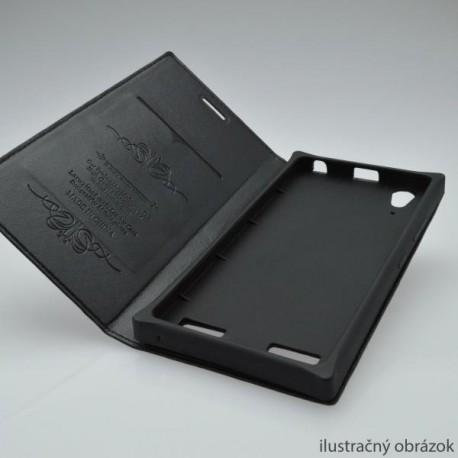 Knižkové puzdro Luxury Sony Xperia M4 Aqua, čierne
