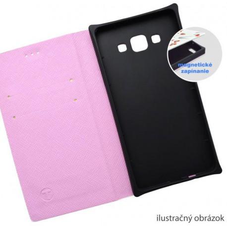 Vzorované knižkové puzdro Samsung Galaxy A5, biele, vzor Love