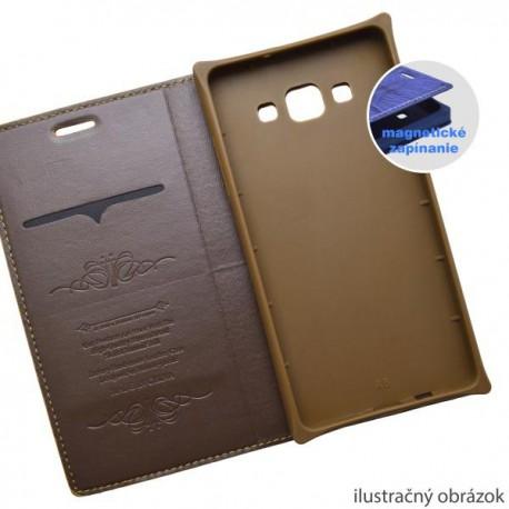 Knižkové puzdro Luxury Lenovo A7000, hnedé