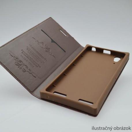 Knižkové puzdro Luxury Sony Xperia Z5 Compact, bordové