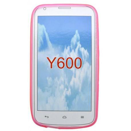 Gumené puzdro Huawei Y600, ružové