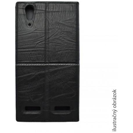Knižkové puzdro Luxury Samsung Galaxy S6 Edge Plus, čierne