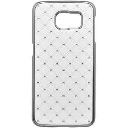 Plastové kamienkové puzdro Samsung Galaxy S6, biele