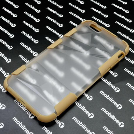 Plastové priehľadné puzdro iPhone 6S, priehľadné, žltý rám