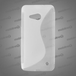 Gumené puzdro S-line Microsoft Lumia 550, transparentné