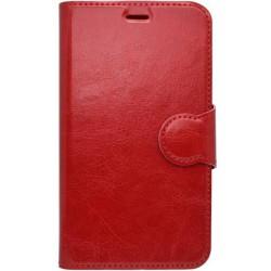 Červené knižkové puzdro LG K4, bočné otváranie