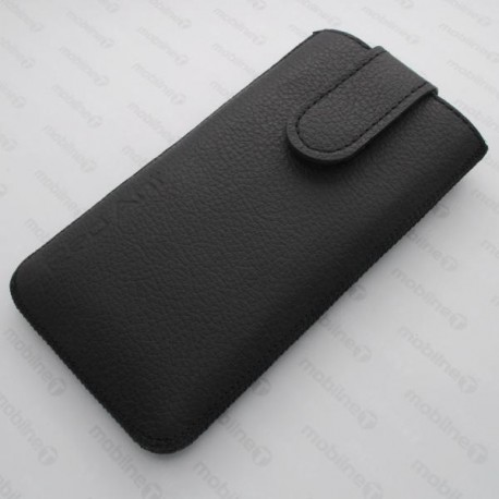 Kožená vsuvka Nokia 230, čierna, s vyťahovacím pútkom