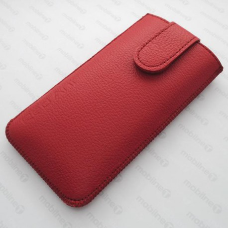 Kožená vsuvka Nokia 230, červená, s vyťahovacím pútkom