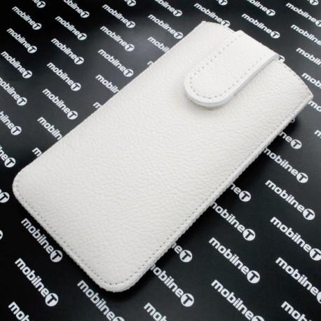 Kožená vsuvka Nokia 230, biela, s vyťahovacím pútkom