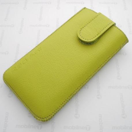Kožená vsuvka Nokia 230, zelená, s vyťahovacím pútkom