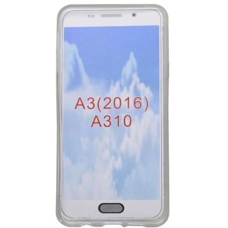 Vzorované gumené puzdro Samsung Galaxy A3 2016, ružové, vzor macík