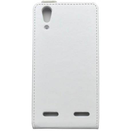 Sklopné knižkové puzdro Lenovo A6010, biele