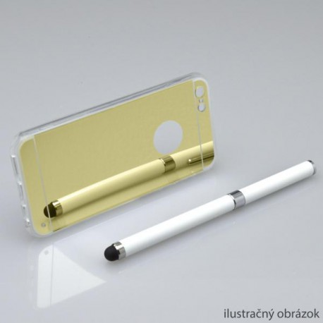 Zrkadlové gumené puzdro iPhone 6 Plus, zlaté