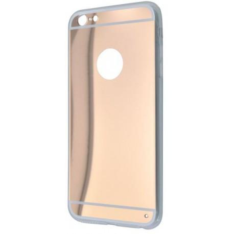 Zrkadlové gumené puzdro iPhone 6 Plus, medené