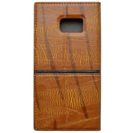 Otváracie puzdro Luxury Samsung Galaxy S7, hnedé