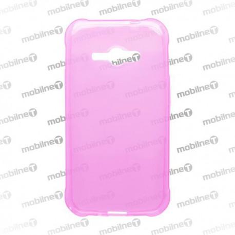 Gumené puzdro Samsung Galaxy J1 Ace, ružové, anti-moisture