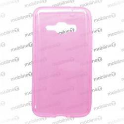 Gumené puzdro Samsung Galaxy J1 2016, ružové, anti-moisture