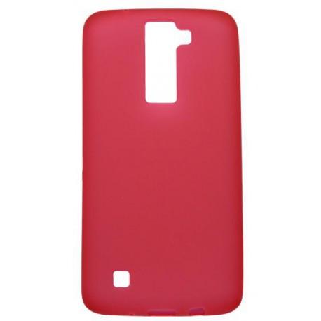 Matné gumené puzdro LG K8, červené
