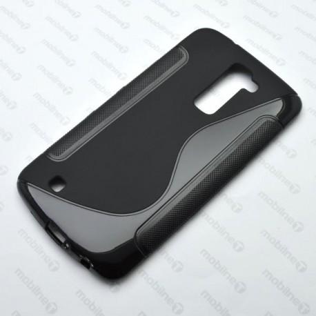 Gumené puzdro S-Line LG K10, čierne