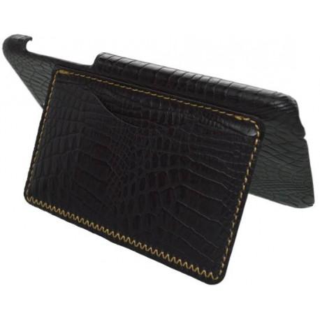 Plastové puzdro s koženkovým povrchom iPhone SE, čierne