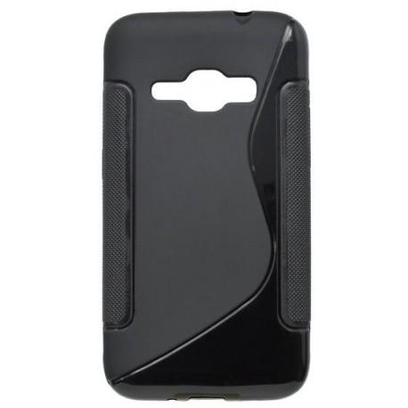 Gumené puzdro S-Line Samsung Galaxy J1 2016, čierne