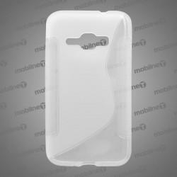 Gumené puzdro S-Line Samsung Galaxy J1 2016, transparentné