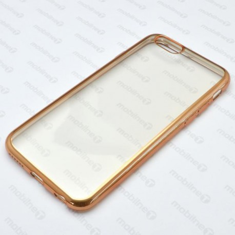 Gumené puzdro Plating pre iPhone 6S, zlaté