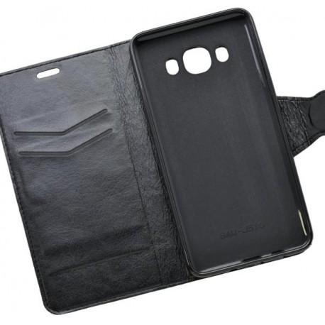 Bočné knižkové puzdro Samsung Galaxy J5 2016, čierne