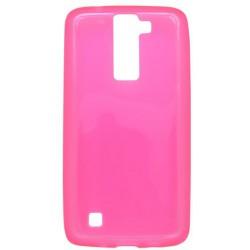 Gumené puzdro LG K8, ružové, matný okraj