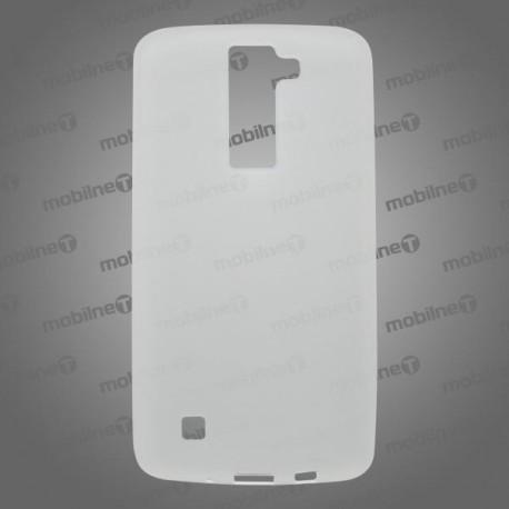 Matné gumené puzdro LG K8, transparentné