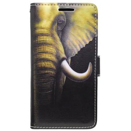 Vzorované knižkové puzdro Samsung Galaxy J5, slon