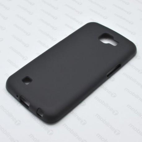 Matné gumené puzdro LG K4, čierne