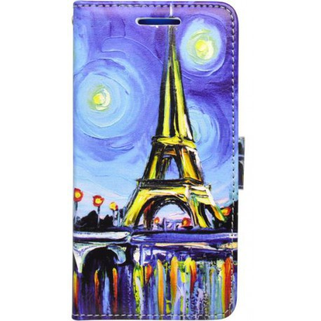 Vzorovaná bočná knižka LG K8, Paríž