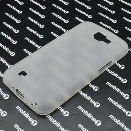 Matné gumené puzdro LG K4, transparentné