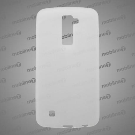 Matné gumené puzdro LG K10, transparentné